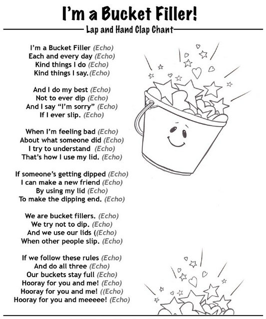Bucket filler quotes quotesgram for Bucket filler coloring page